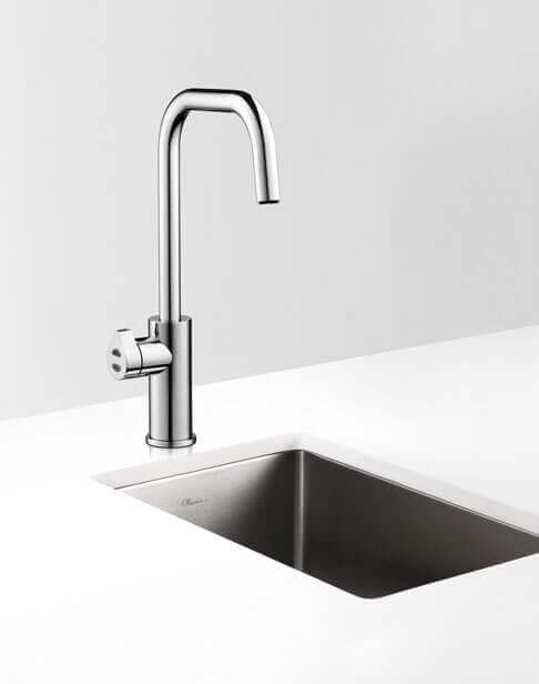 Bright Chrome Cube HydroTap